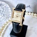 HERMES エルメス Hウォッチ ゴールド  ベルト2色付き  ダイヤモンド 58P  クォーツ レディース 腕時計