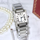 Cartier カルティエ タンク フランセーズ  天然ダイヤモンド25P 腕時計