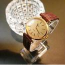 OMEGAオメガ  K18GPデビル ラウンド ブラウンレザーベルト 腕時計