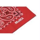PAISLEY BANDANA MoMA LIMITED MADE IN USA RED ペイズリー バンダナ モマ ニューヨーク