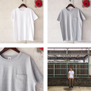 FRUIT OF THE LOOM〈フルーツオブザルーム〉 CREW NECK POCKET TEE  WHITE/H.GREY