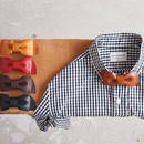 ART BROWN×enough〈アートブラウン×イナフ〉 別注 LEATHER BOW TIE