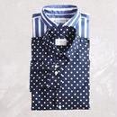 【別注】Manual Alphabet〈マニュアルアルファベット〉 LOOSE FIT レギュラーカラーシャツ DOT/STRIPE