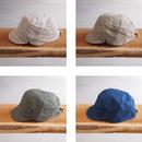 morno〈モーノ〉 LINEN WORK CAP NATURAL/BEIGE/KHAKI/NAVY