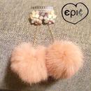 swinging fur bijoux studs earrings