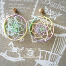 dreamcatcher hoop earrings(パステル)