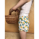 tulip pattern short pants yellow