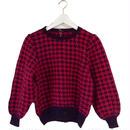 pink check design knit