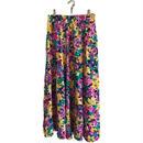 pink flower design skirt