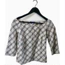 Burberry check ribbon blouse