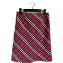 burberry tweed check skirt pink