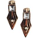 edge design earrings