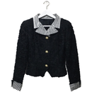 Perl gingham check jacket