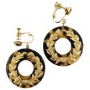 tortoiseshell hoop earrings