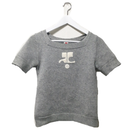courrèges logo knit gray
