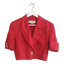 Dior short jacket red