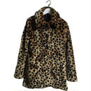 leopard design fur coat