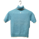 courrèges high neck tops blue