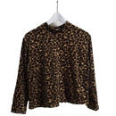 velour  leopard tops