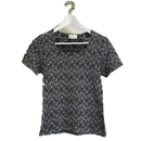 monotone flower design tops