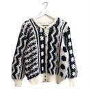 monotone design knit cardigan