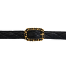 CHANEL logo quilting belt