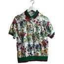 flower line polo shirt