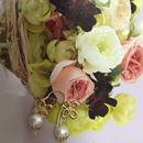 パールとお花のピアス