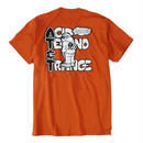 AT&T TEE / ORANGE BROWN【即納】