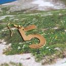 「5」Number pierced earring