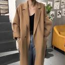 【EruMon】ウール混オーバーサイズコート チェスターコート ロングコート