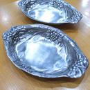 ピューター皿2枚セット【RISKIN/ベルギー】