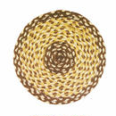 ジュート鍋敷き(茶)  Original jute trivets from Bangladesh(Brown)