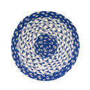 ジュート鍋敷き(青)  Jute trivet (Blue)