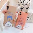 Boy and girl orange brown iphone case