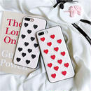 White heart embroidered iphone case