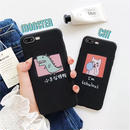 Doodle black iphone case