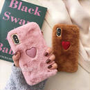 One heart fur iphone case