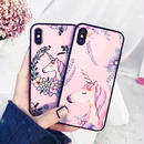 Unicorn black side iphone case