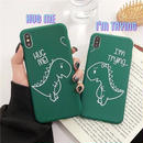 Hug dinosaur iphone case
