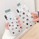 Gold dot heart shell iphone case