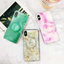 Gold glitter marble with stand iphone case