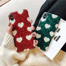 Red green heart shell iphone case
