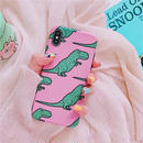 Big pink dinosaur iphone case