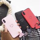 Heart line finger ring iphone case