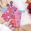 Red heart laser iphone case