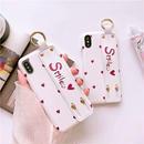 Smile white strap iphone case