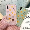 Orange pink green iphone case