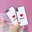 Be loved embroidered iphone case