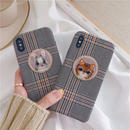 Cat rabbit check iphone case